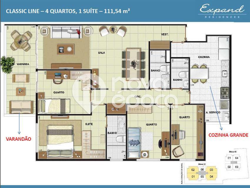Apartamento de 3 dormitórios à venda em Méier, Rio De Janeiro - RJ